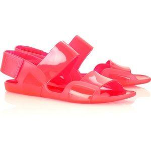 Marni Jelly Gladiators Sandals Neon Orange